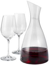 Dekanter se 2 sklenicemi na víno Prestige, průhledná bezbarvá