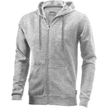 Mikina Open s kapucí šedá