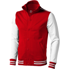 Unisex bunda Varsity červeno-bílá