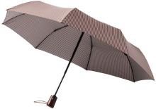 """Trojdílný automatický deštník 21"""" hnědý"""