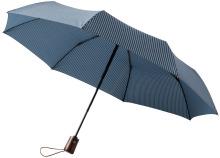 """Trojdílný automatický deštník 21"""" modrý"""