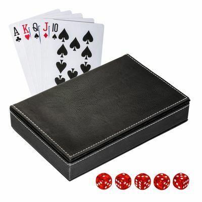 Playing cards set with box SALAMINA BLACK