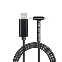 Charging cable with 3-in-1 REEVES-CHESTER BLACK
