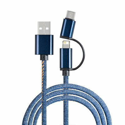 Charging cable with 3-in-1 REEVES-DENIM BLUE