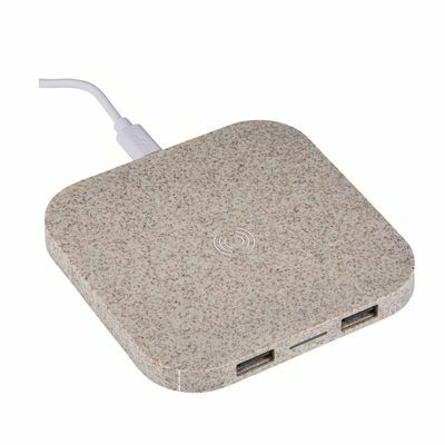 Wireless charging station REEVES-GILBERT LIGHT BROWN