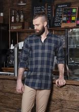 Mens Checked Shirt Urban-Style (L)
