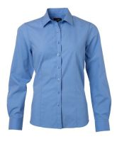 Ladies Shirt Longsleeve Poplin (M)