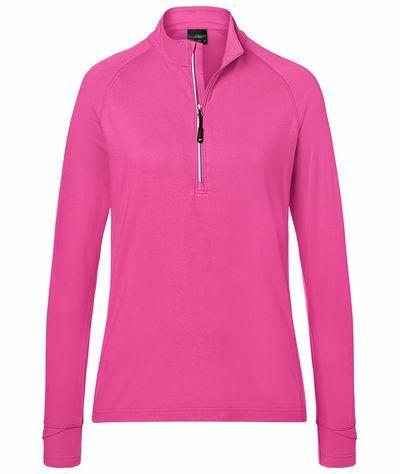 Ladies Sports Shirt Halfzip (S)