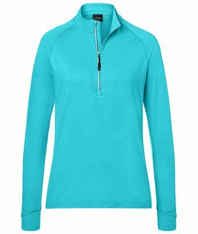 Ladies Sports Shirt Halfzip (XXL)