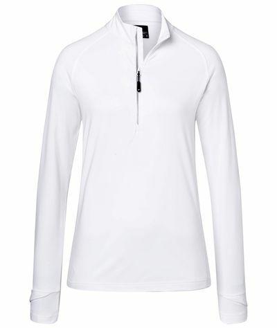 Ladies Sports Shirt Halfzip (M)