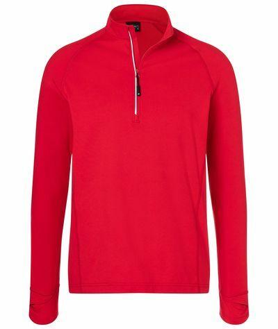 Mens Sports Shirt Halfzip (S)