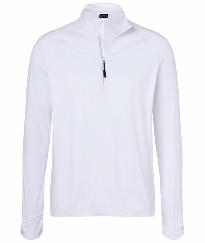 Mens Sports Shirt Halfzip (XXL)