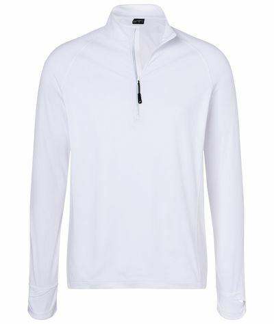 Mens Sports Shirt Halfzip (3XL)