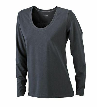 Ladies Stretch Shirt Longsl (XL)