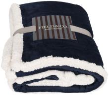 Pléd Lauren z materiálu sherpa fleece modrá