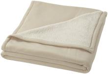 Pléd Springwood z měkkého materiálu fleece a sherpa béžívá