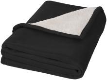 Pléd Springwood z měkkého materiálu fleece a sherpa černá
