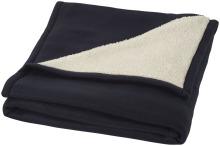 Pléd Springwood z měkkého materiálu fleece a sherpa tmavě modrá
