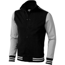 Unisex mikinová bunda Varsity černo-bílá
