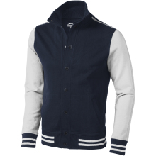 Unisex mikinová bunda Varsity modro-bílá
